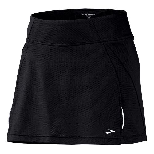 Womens Brooks PR Mesh II Skort Fitness Skirts - Black XS