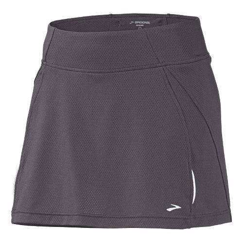 Womens Brooks PR Mesh II Skort Fitness Skirts - Carbon M