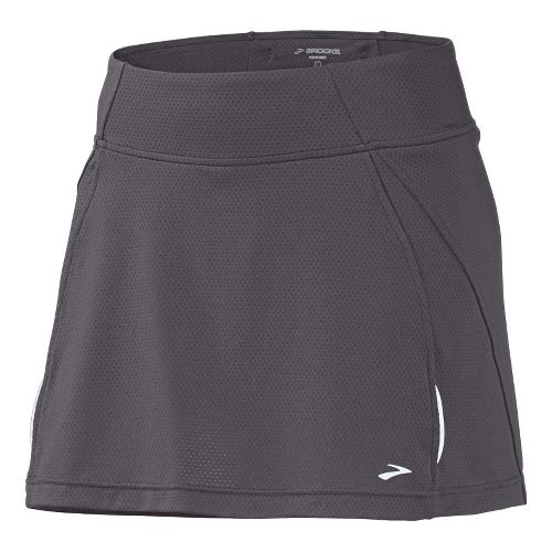 Womens Brooks PR Mesh II Skort Fitness Skirts - Carbon XL