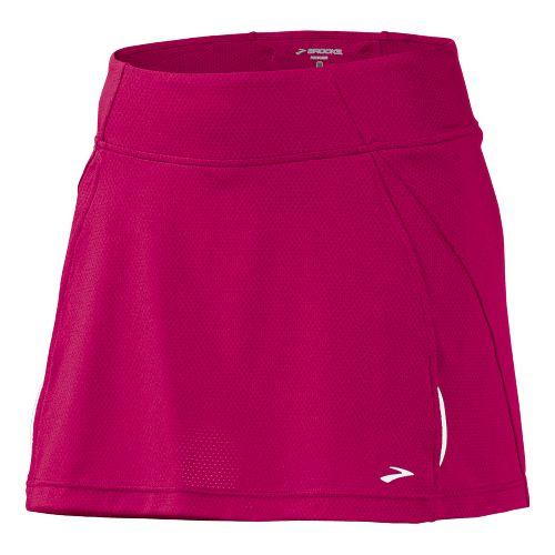 Womens Brooks PR Mesh II Skort Fitness Skirts - Cerise L