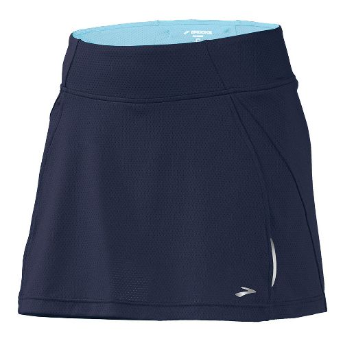 Womens Brooks PR Mesh II Skort Fitness Skirts - Midnight/Helium XS