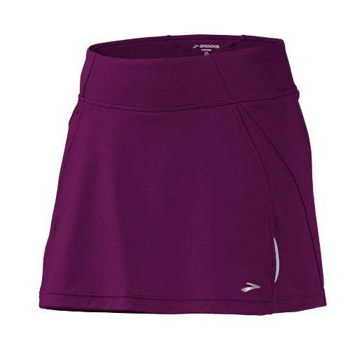 Womens Brooks PR Mesh II Skort Fitness Skirts - Plum L