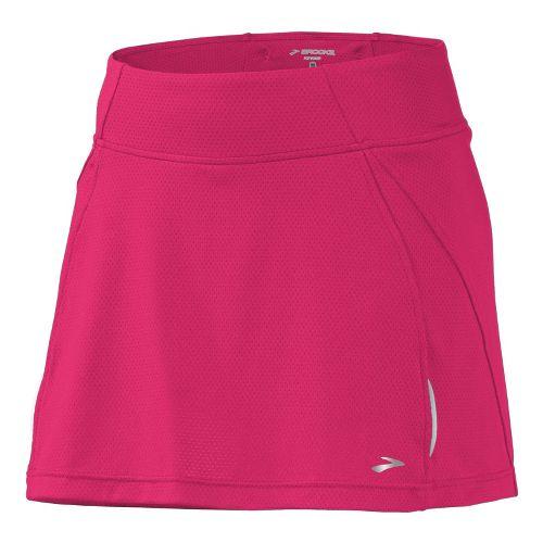 Womens Brooks PR Mesh II Skort Fitness Skirts - Pomegranate XL