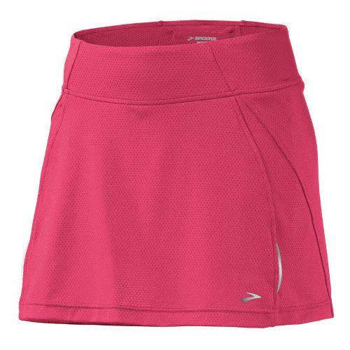Womens Brooks PR Mesh II Skort Fitness Skirts - Rouge M