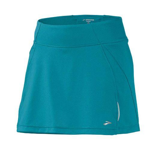 Womens Brooks PR Mesh II Skort Fitness Skirts - Tourmaline M