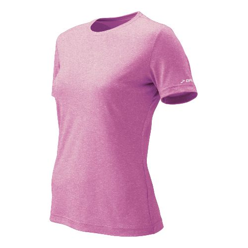 Womens Brooks EZ T II Short Sleeve Technical Tops - Berry L