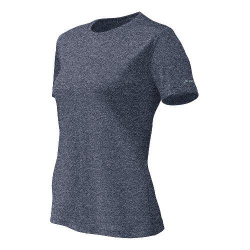 Womens Brooks EZ T II Short Sleeve Technical Tops - Midnight XS