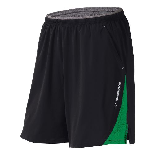 Mens Brooks Rogue Runner III Lined Shorts - Black/Fern S
