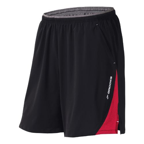 Mens Brooks Rogue Runner III Lined Shorts - Black/Plasma L