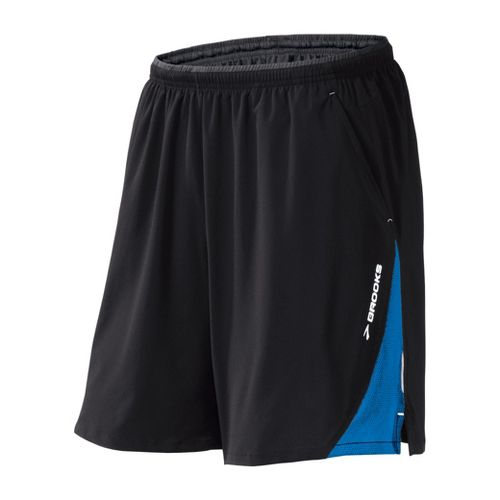 Mens Brooks Rogue Runner III Lined Shorts - Black/Skydiver M