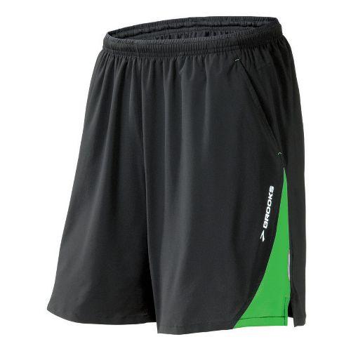 Mens Brooks Rogue Runner III Lined Shorts - Earl/Speed Green XXL