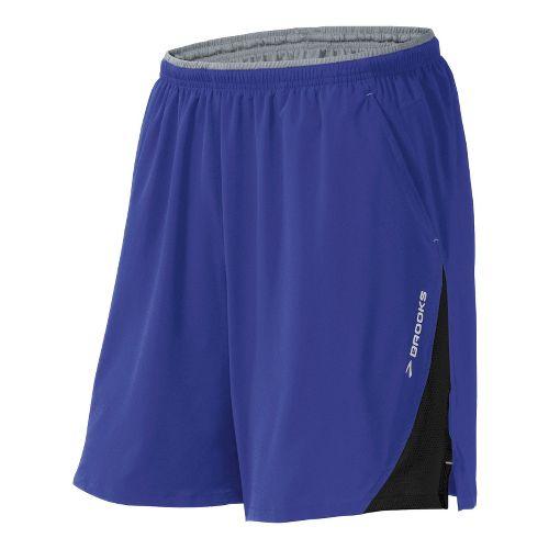 Mens Brooks Rogue Runner III Lined Shorts - Ultra Marine/Black XL
