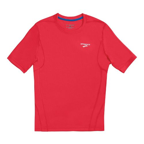 Mens Brooks Versatile T Short Sleeve Technical Tops - Americana L
