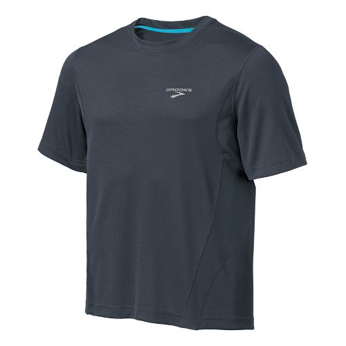 Mens Brooks Versatile T Short Sleeve Technical Tops - Anthracite/Canyon S