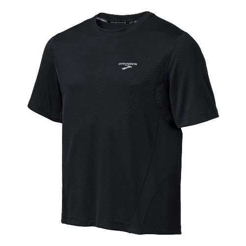 Mens Brooks Versatile T Short Sleeve Technical Tops - Black M