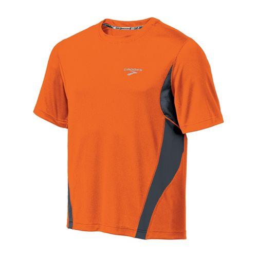 Mens Brooks Versatile T Short Sleeve Technical Tops - Brite Orange/Anthracite S