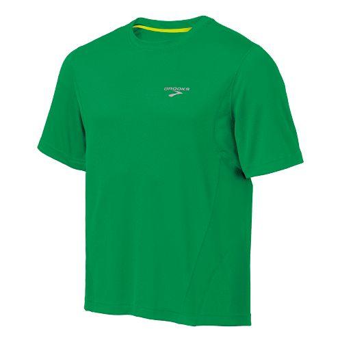 Mens Brooks Versatile T Short Sleeve Technical Tops - Envy L