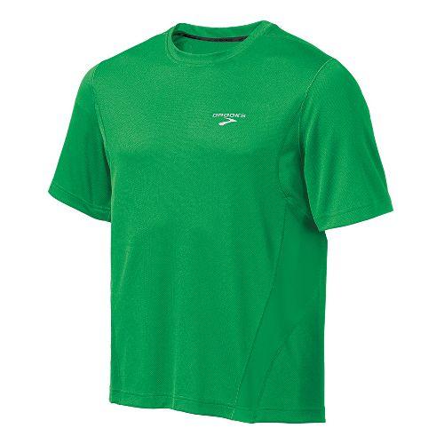 Mens Brooks Versatile T Short Sleeve Technical Tops - Fern M