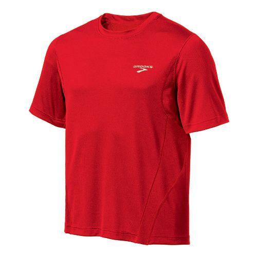 Mens Brooks Versatile T Short Sleeve Technical Tops - Power Red L