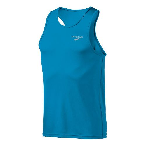 Mens Brooks Versatile Singlets Technical Tops - Atlantic S