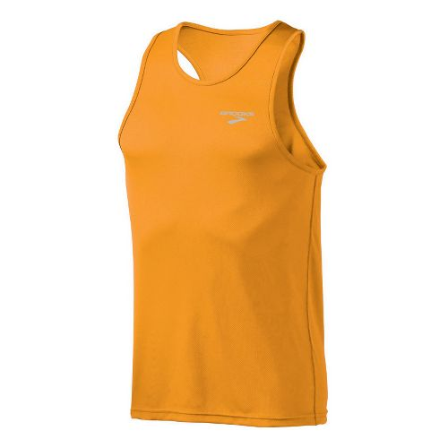 Mens Brooks Versatile Singlets Technical Tops - Atomic Orange L