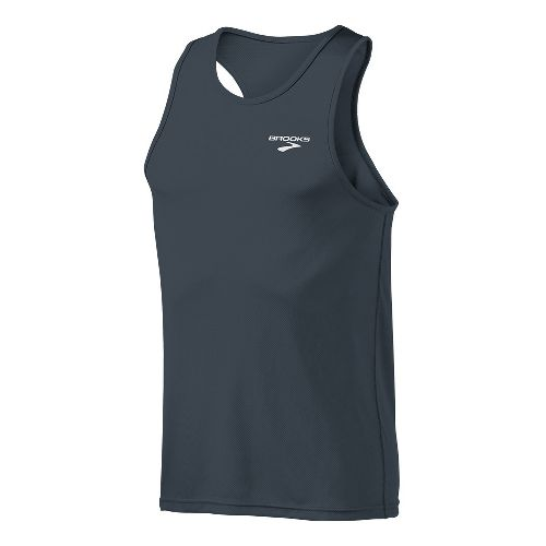 Mens Brooks Versatile Singlets Technical Tops - Anthracite L
