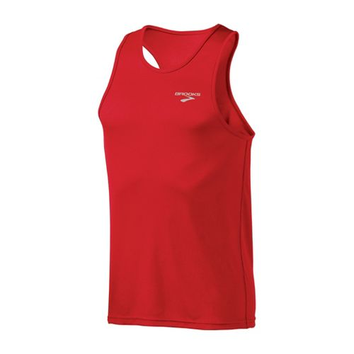 Mens Brooks Versatile Singlets Technical Tops - Lava S