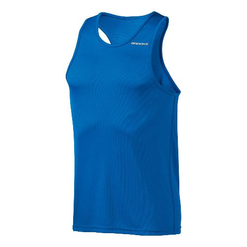 Mens Brooks Versatile Singlets Technical Tops - Olympic M