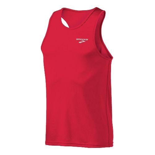 Mens Brooks Versatile Singlets Technical Tops - Plasma M