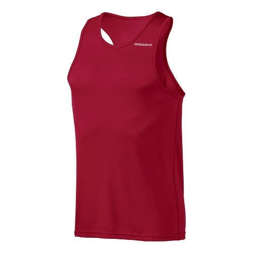 Mens Brooks Versatile Singlets Technical Tops - Rio Red L