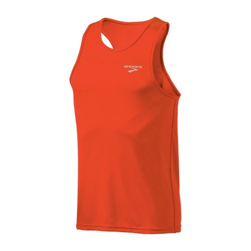 Mens Brooks Versatile Singlets Technical Tops - Torch S