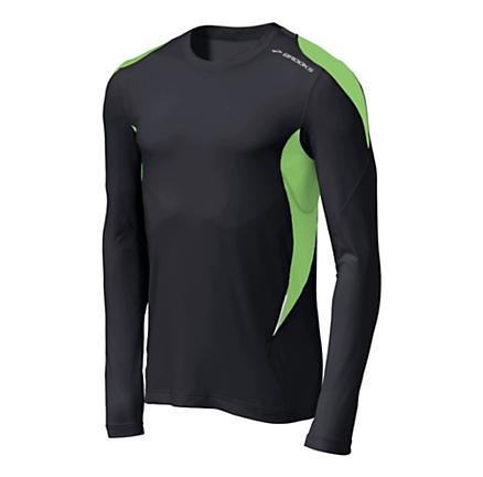 Mens Brooks Nightlife Equilibrium Long Sleeve Long Sleeve No Zip Technical Tops