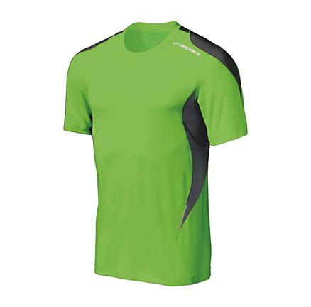 Mens Brooks Nightlife Equilibrium Short Sleeve Short Sleeve Technical Tops