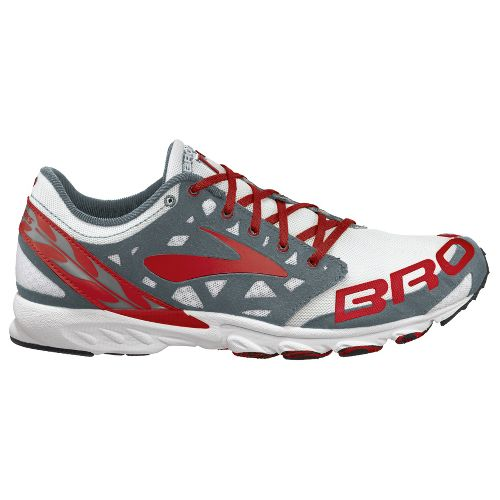 Brooks T7 Racer Racing Shoe - Tango Red/Cool Grey 6.5