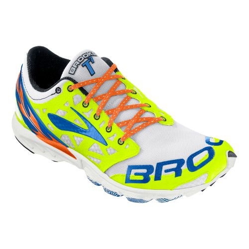 Brooks T7 Racer Racing Shoe - White/Passat Grey 11.5