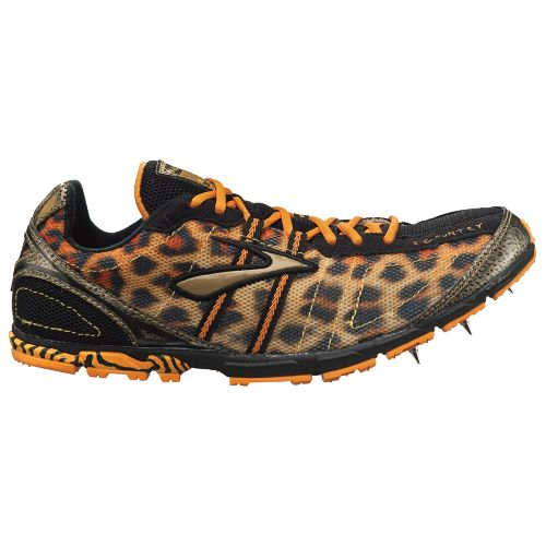 Womens Brooks Mach 13 Racing Shoe - Flame Orange/Varsity Maize 7.5