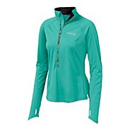 Womens Brooks Infiniti Hybrid Wind Shirt Long Sleeve 1/2 Zip Technical Tops