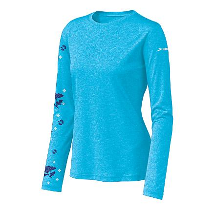 Womens Brooks EZ T Blossom Long Sleeve No Zip Technical Tops