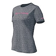 Womens Brooks EZ T Run Happy Short Sleeve Technical Tops