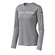 Womens Brooks EZ T Run Happy Long Sleeve No Zip Technical Tops