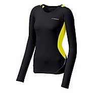 Womens Brooks Nightlife Equilibrium LS Long Sleeve No Zip Technical Tops