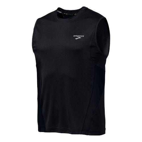 Mens Brooks Versatile Sleeveless Technical Tops - Black XS