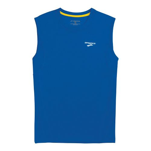 Mens Brooks Versatile Sleeveless Technical Tops - Electric S