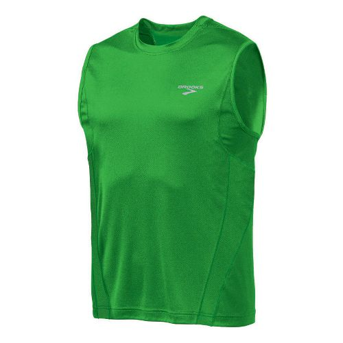 Mens Brooks Versatile Sleeveless Technical Tops - Speed Green M