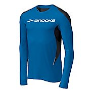 Mens Brooks ID Elite Long Sleeve No Zip Technical Tops