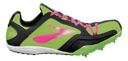 Womens Brooks ELMN8 Track and Field Shoe - Green Gecko/KnockoutPink 11