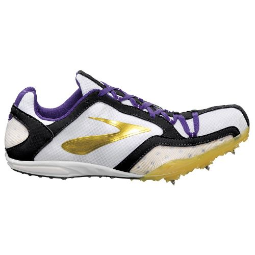 Womens Brooks ELMN8 Track and Field Shoe - Varsity Maize/Deep Blue 7.5