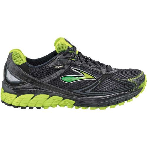 Womens Brooks Ghost GTX Trail Running Shoe - Citron/Black 5