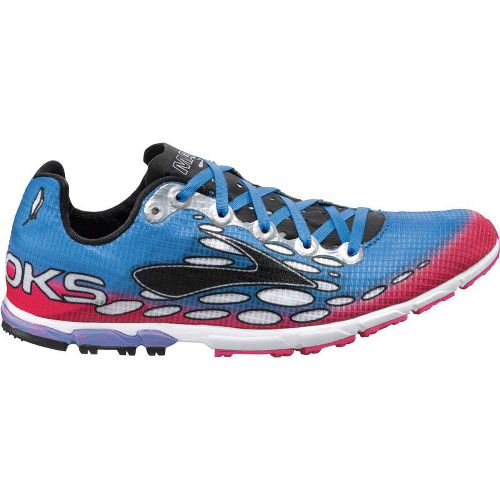 Womens Brooks Mach 14 Spikeless Cross Training Shoe - Neon Magenta/Neon Blue 7.5
