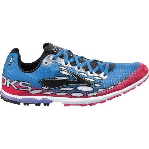 Womens Brooks Mach 14 Spikeless Cross Training Shoe - Neon Magenta/Neon Blue 8.5